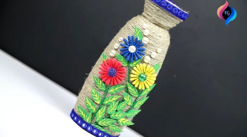 Shampoo Bottle Craft Idea With Jute Rope