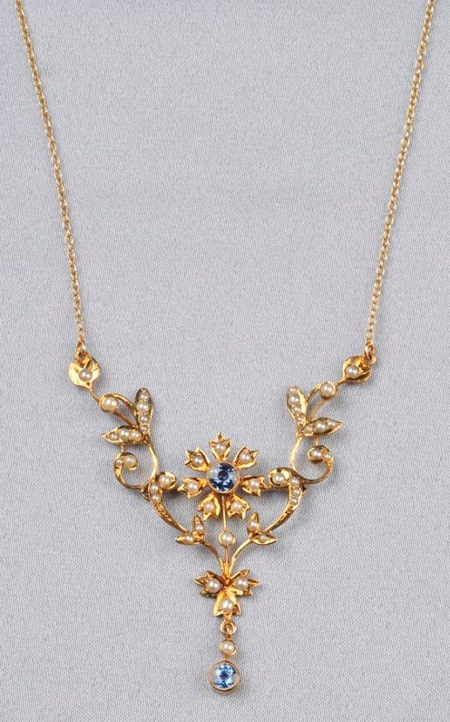 15 Carat Gold Seed Pearl Necklaces