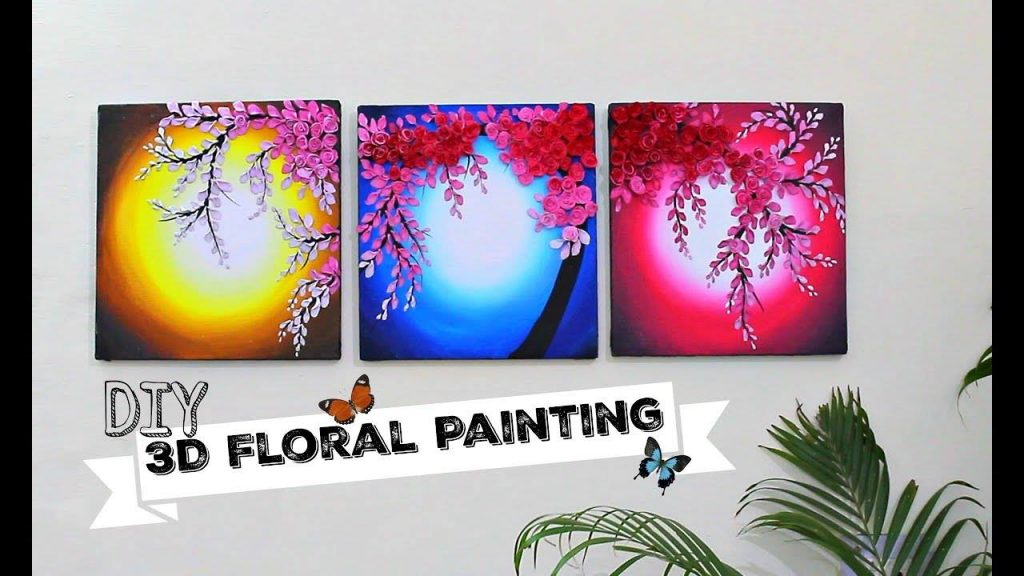 3D Floral Painting for Wall Decor