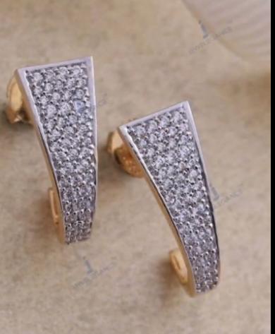 Beautiful Light Weight Gold Hoop Earrings