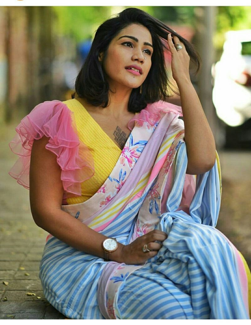 Beautiful Saree Blouse Sleeve Designs