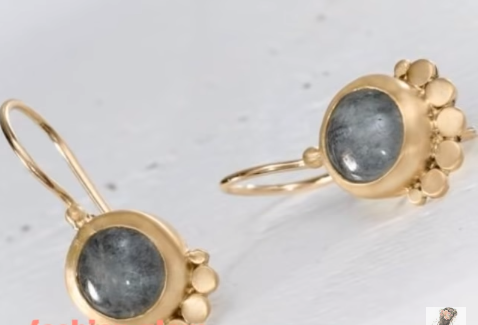 Beautiful Tiny Gold Stud Earrings