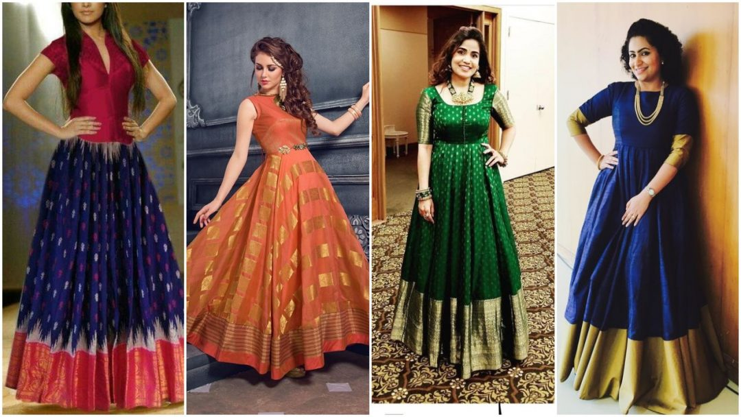 Convert Your Old Saree Into Beautiful Gowns