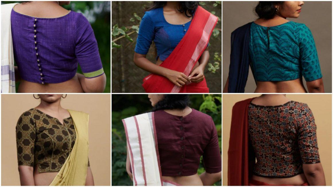 Simple Cotton Blouse Designs