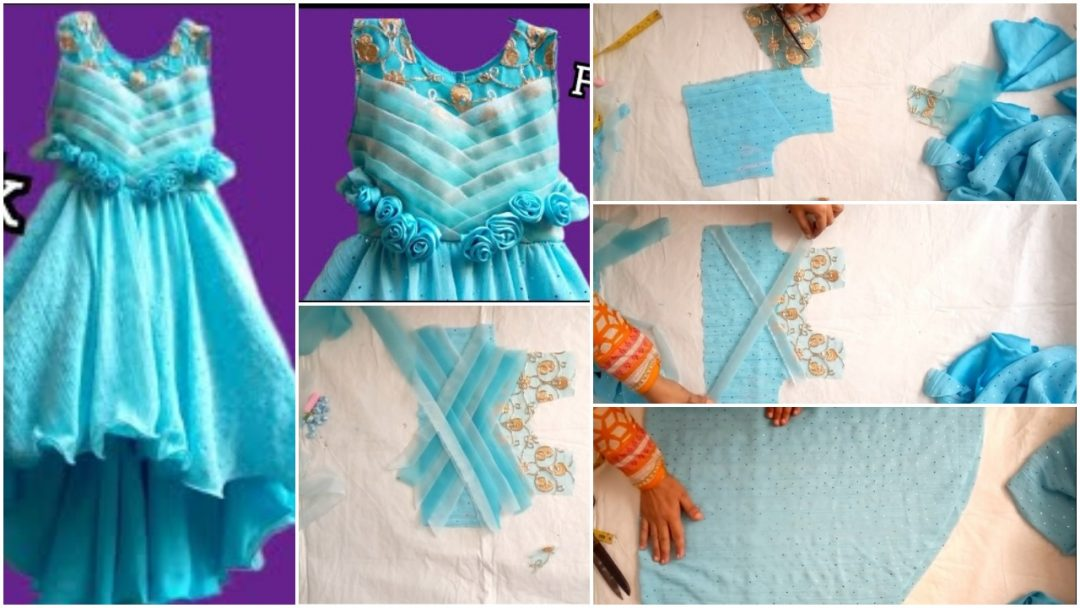 Designer Frock Cutting and Stitching