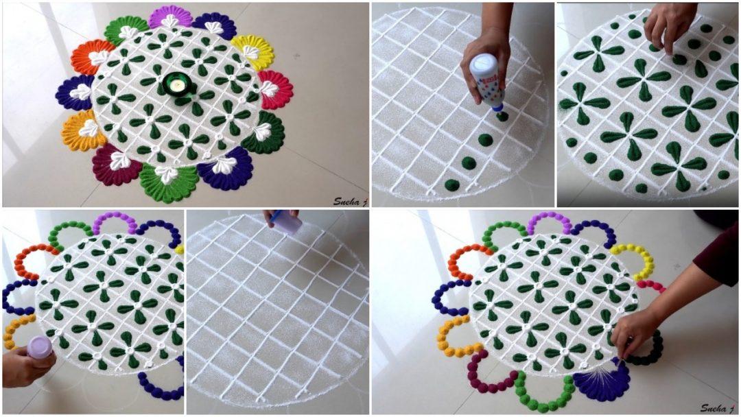 Diwali special easy and quick rangoli design