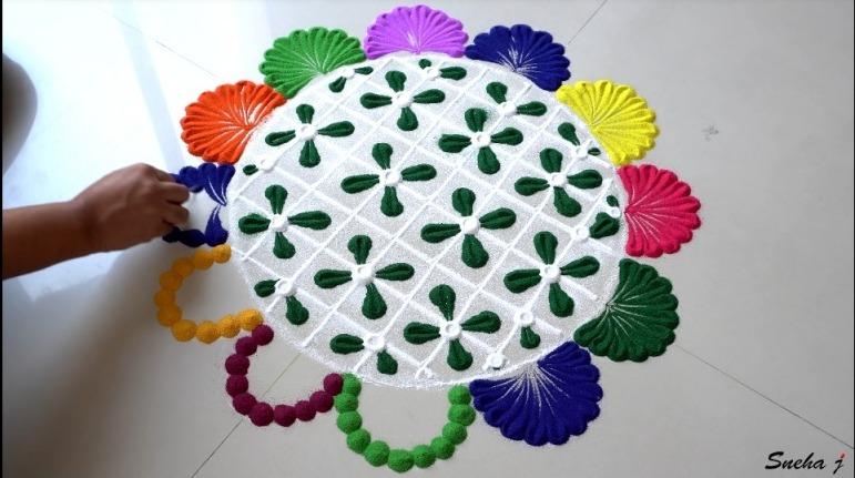 Easy and Quick Rangoli Design