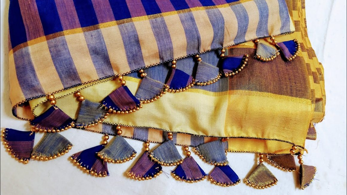 Fabric Tassels with Beads