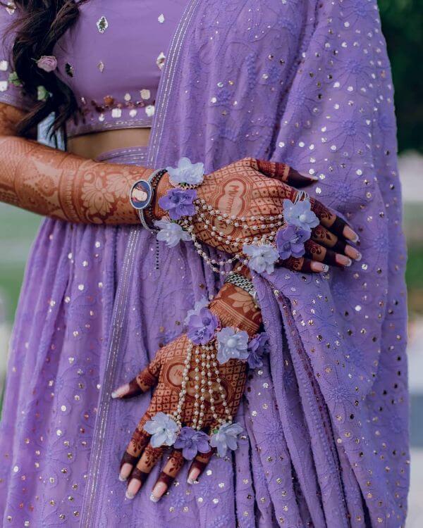 Lavender beauty floral hathphool jewellery