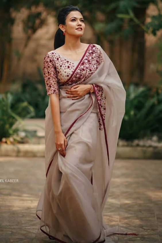 Floral Pattern Blouse Designs