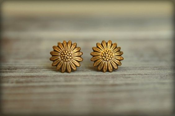 Gold Simple Hoop Earrings