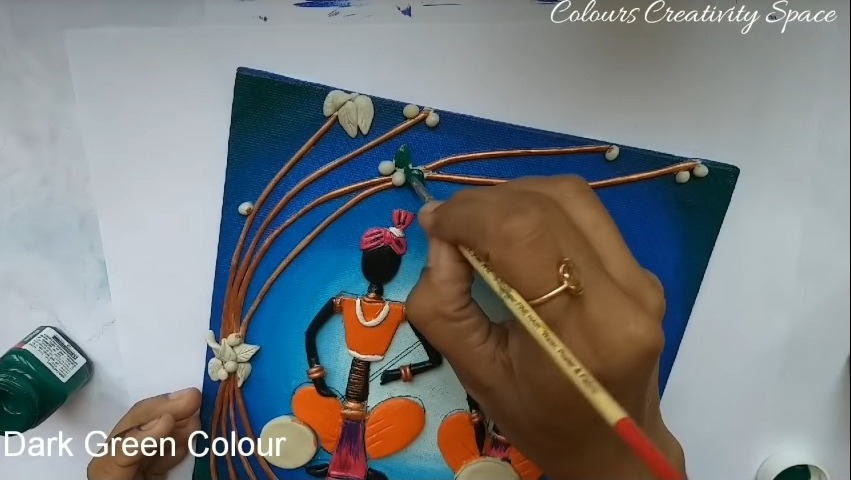 Easy Tribal Clay Art Mural for Beginners
