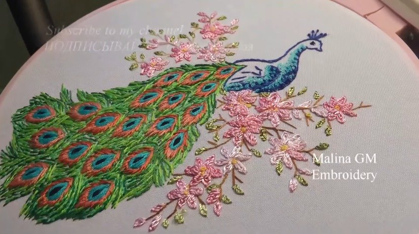 How to Do Hand Embroidery Peacock