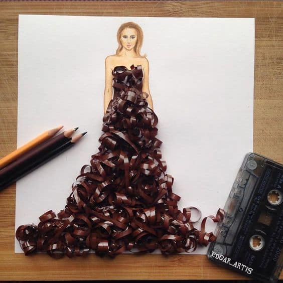 Illustrations are Mixed with Everyday Elements
