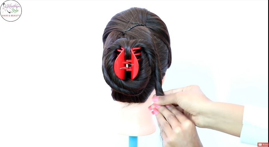 Juda Hairstyle with Puff Using Clutcher