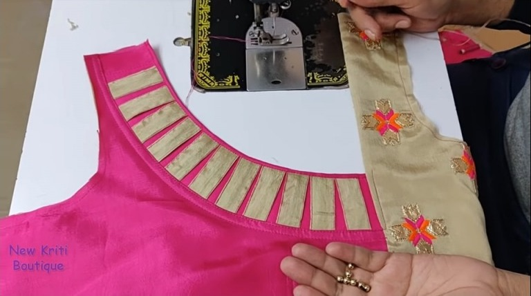 Kurti Neck Design Cutting and Stitching