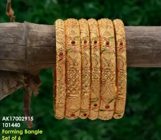 Latest 6 Pieces Gold Bangle Designs