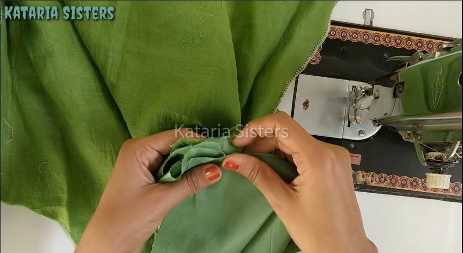Latest Dori Sleeve Design Making