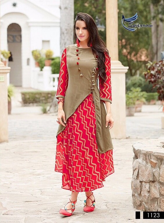 Latest Indo-Western Style Kurti Designs
