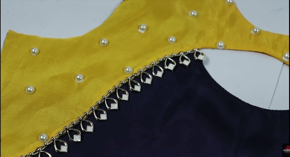 Latest Neck Design with Lace