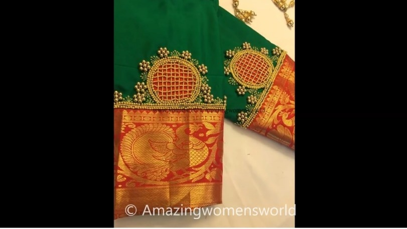 Most Beautiful Zardosi Chex for Blouse