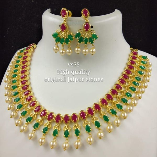 Pearl Leaf Necklace Bridal Jewellery