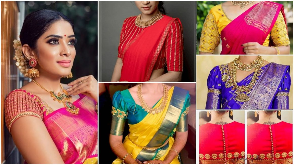 Saree Blouse Designs for Silk Sarees