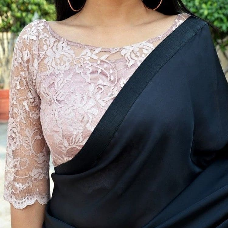 Stunning Blouse Designs with Net