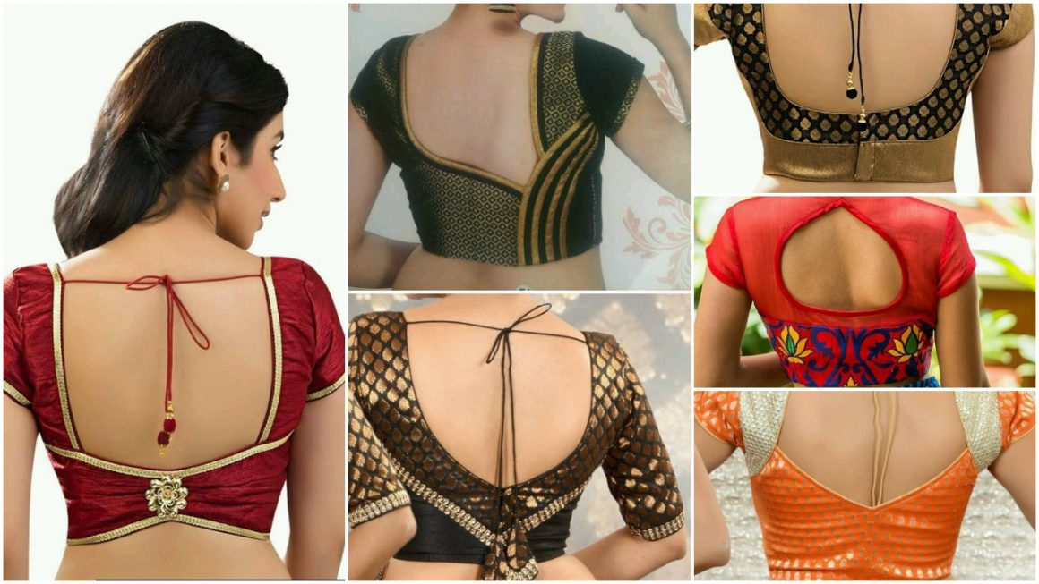 Stylish and trendy blouse back neck designs