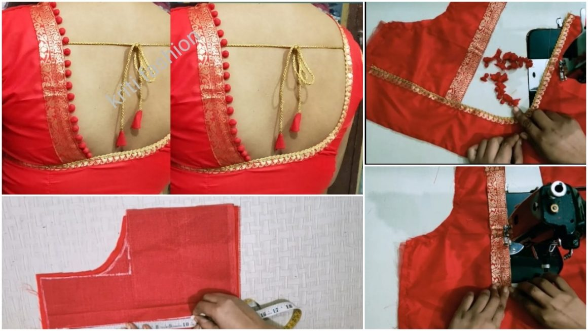 Stylish blouse cutting and stitching