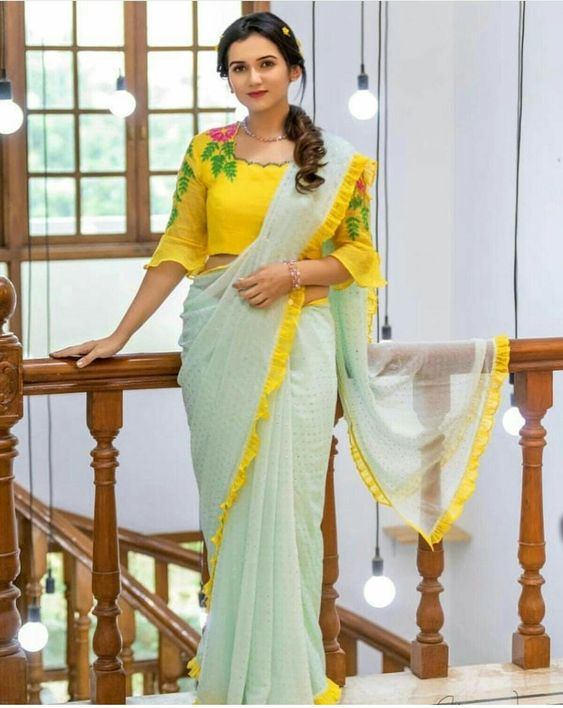 Trendy Saree Blouse Neck Designs