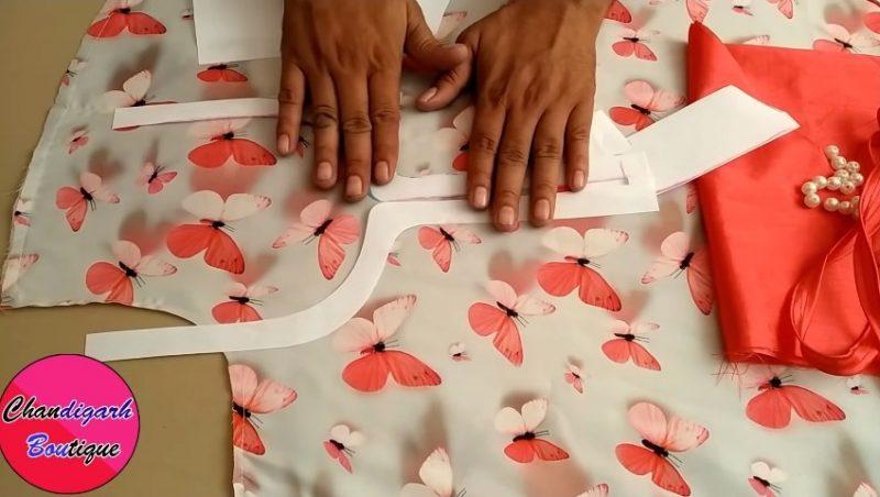 Unique Neck Design Cutting and Stitching