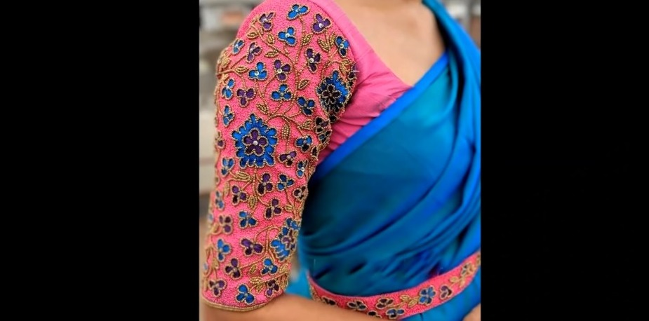Aari Work Blouse with Normal Needle