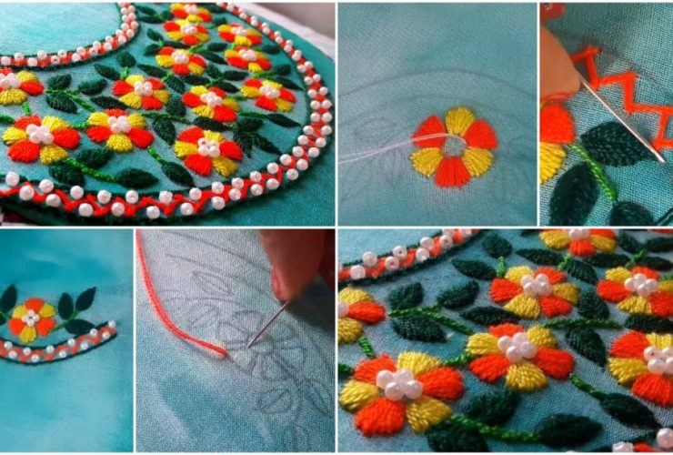 Hand Embroidery Front Neck Archives Get Easy Art And Craft Ideas,Creative Design Workspace