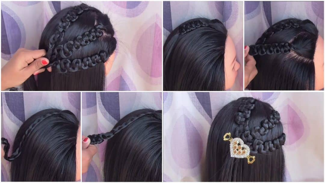 Easy and Stylish Party Wear Hairstyle