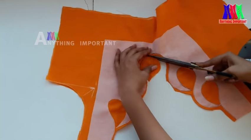 Gala Blouse Back Neck Stitching Tutorial