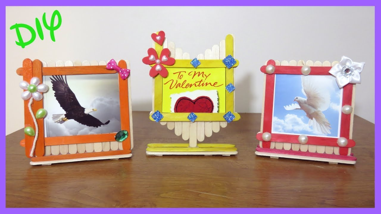Popsicle Sticks Picture Frames