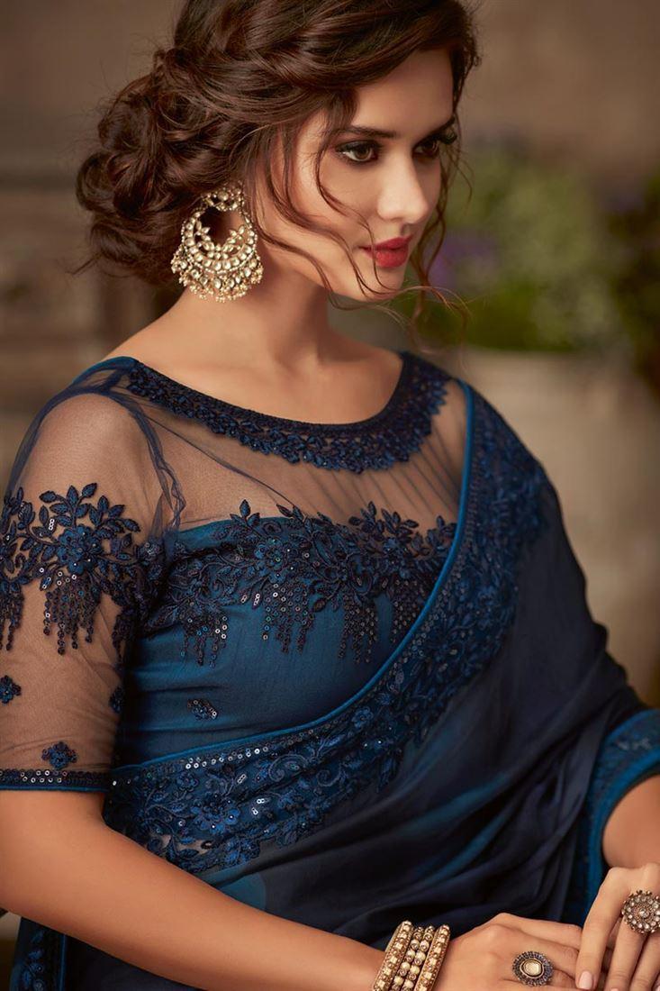 Bridal Net Blouse Designs