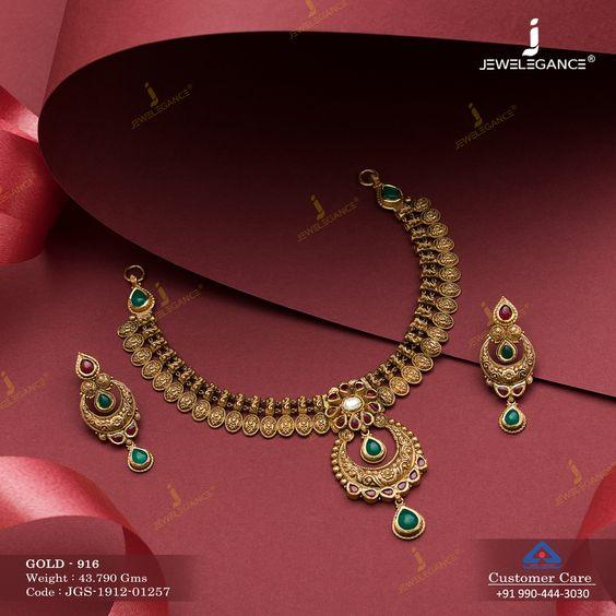 Golden Necklace Pretty Designs
