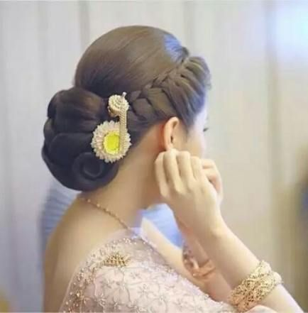 Indian Wedding and Reception Hairstyle