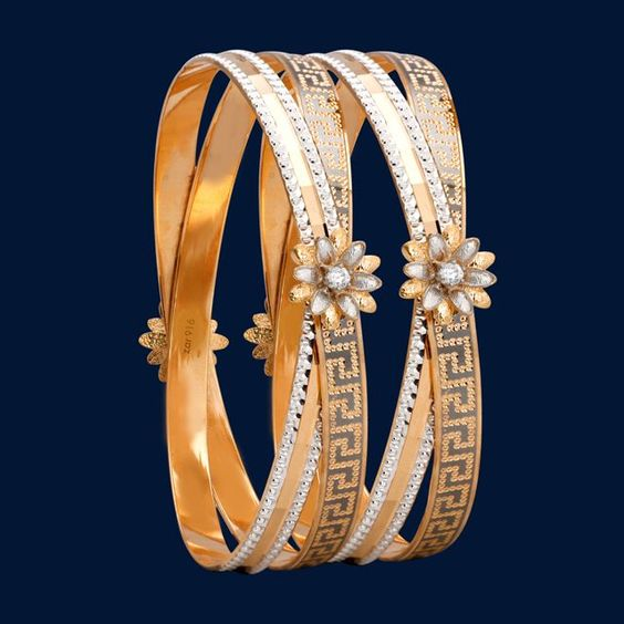 Latest Gold Bangle Designs