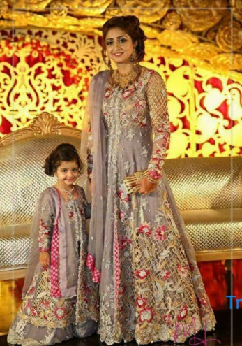 Mother Daughter Matching Designer Outfits