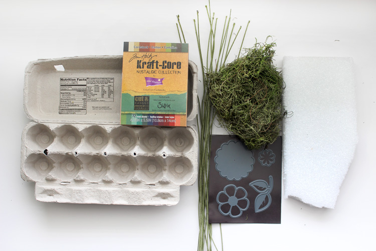 Recycled Egg Carton Craft Flower Box
