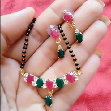 Black Beads Mangalsutra Designs
