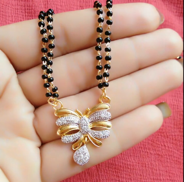 Black Beads Mangalsutra Designs