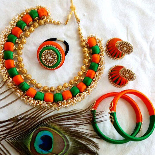 Silk Thread Jewellery Design