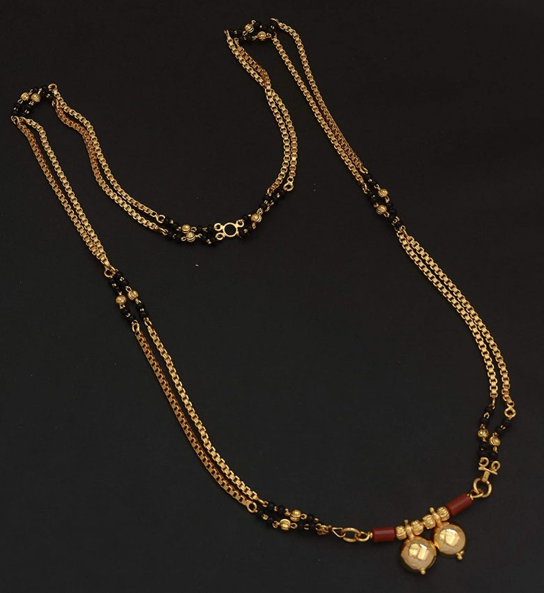 20 Modern short mangalsutra designs for a sleek and stylish look 12