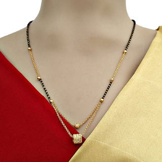 20 Modern short mangalsutra designs for a sleek and stylish look 2