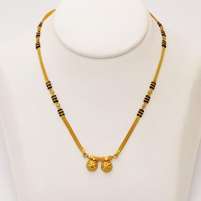 20 Modern short mangalsutra designs for a sleek and stylish look 6