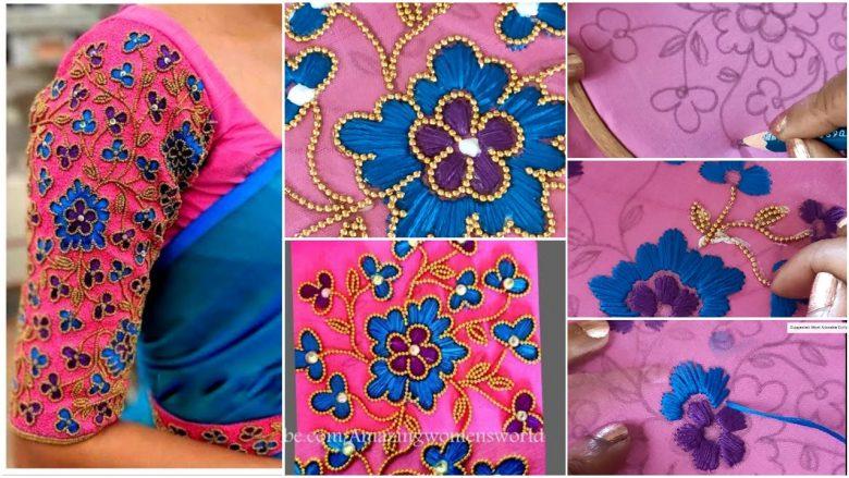 Beautiful aari work blouse